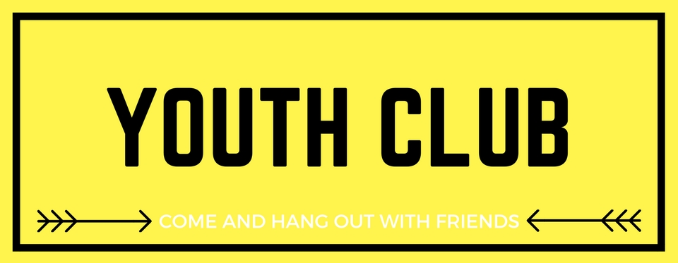 temporary Youth club banner